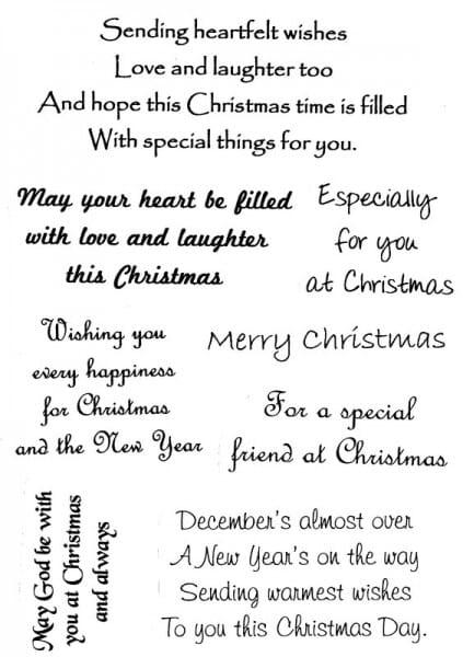 Sue Dix - Sending Heartfelt Wishes Clear Stamp