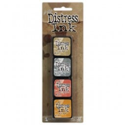 Ranger Ink - Distress Mini Kit 7 - Sold in one strip of 4 pads