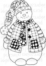 Lindsay Mason Designs - Zendoodle Snowman Ready To Go A6 Clear Stamp