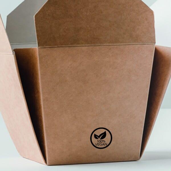 Takeaway Packaging Stamp - Vegan