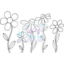 Lindsay Mason Designs - Zendoodle Flowers Clear Stamp size A6