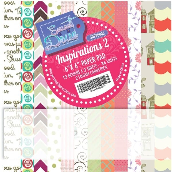 Sweet Dixie Inspirations Two Cardstock Pad