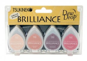 Tsukineko - Brillianc 4 Piece Set Painters Pallet