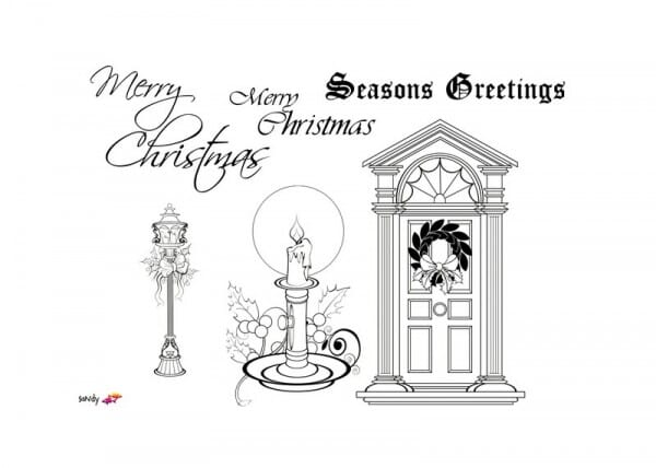 Art Stamps - Christmas image and sentiments Clear Stamp