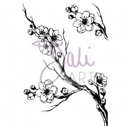 DaliArt - DaliART Clear Stamp Cherry Blossom A6