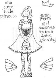 Lindsay Mason Designs - Princess Fairy Girl - Clear Stamp