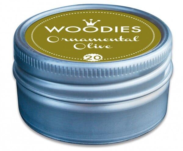 Woodies stamp pad Ornamental Olive