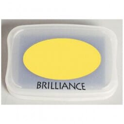 Tsukineko - Pearlescent Yellow Brilliance Pad