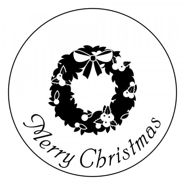 Eco Gift Tag Stamp - Merry Christmas