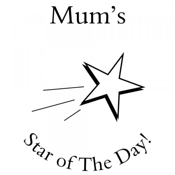 Personalised Home Schooling Stamp - Star of the Day