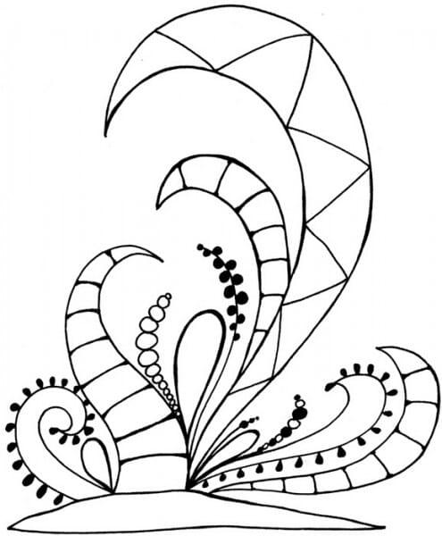 Lindsay Mason Designs - Zendoodles Botanics Clear Stamp