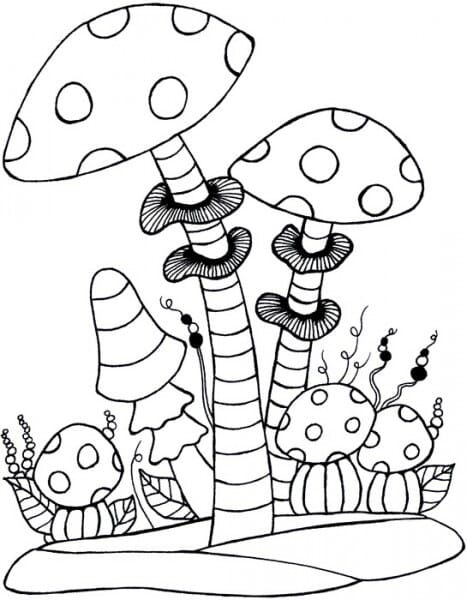 Lindsay Mason Designs - Zendoodles Mushrooms Clear Stamp