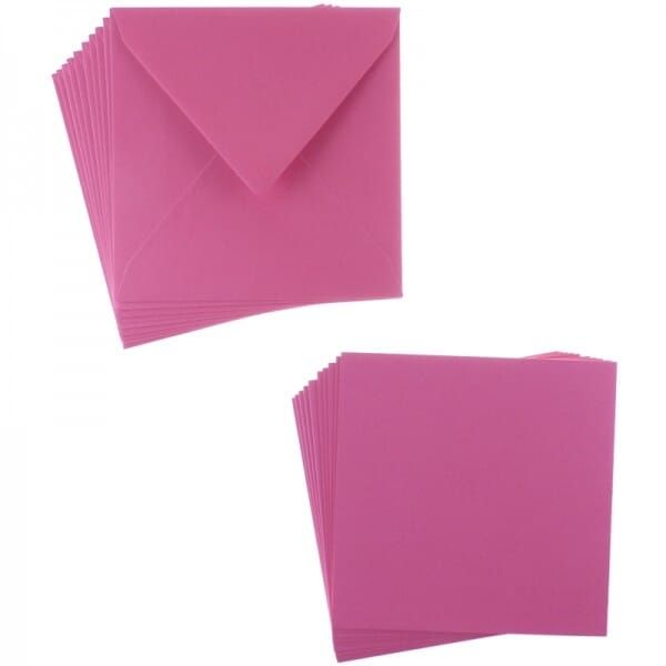 Sweet Dixie Fuchsia Square Card and Envelope Packs (10)