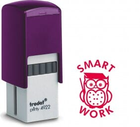 Trodat Printy 4922 - Smart Work Owl - red