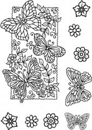 Sweet Dixie - Butterfly Background Clear Stamp