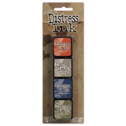 Ranger Ink - Tim Holtz Distress Mini Ink Pads Kit 5 - Sold in one strip of 4 pads