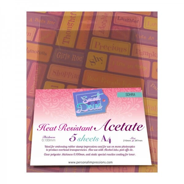 Sweet Dixie - A4 Heat Resistant Acetate (5)
