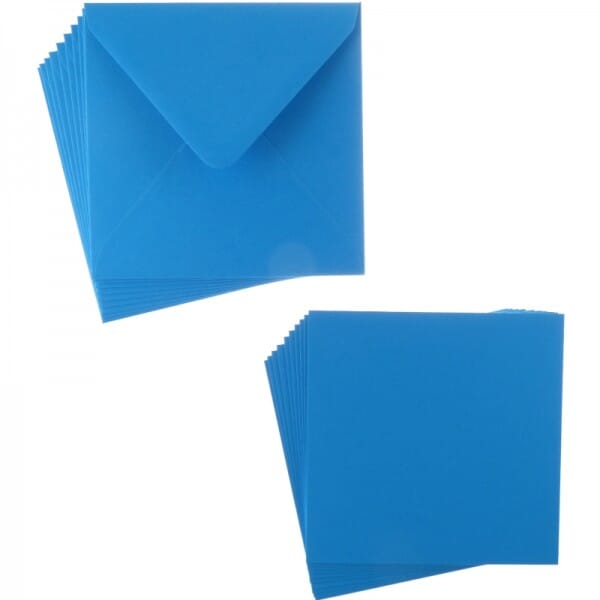 Sweet Dixie Turquoise Square Card and Envelope Packs (10)