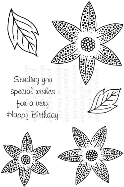 Art Stamps - SD Dotty Lily - Clear Stamp