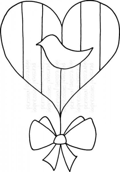 Lindsay Mason Designs - Zendoodle Folk Heart - Clear Stamp