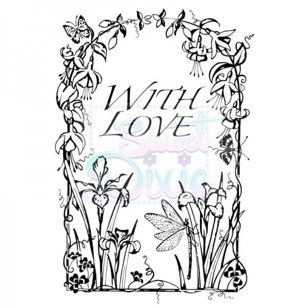 Cathie Shuttlworth Designs - Dragonfly With Love Clear Stamp A6