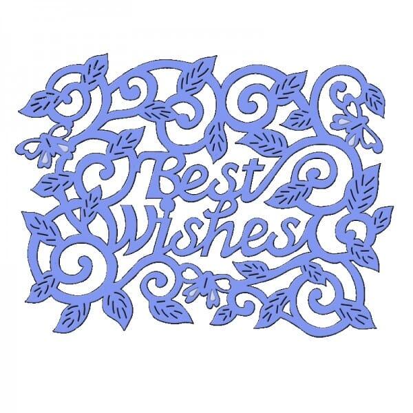 Sue Dix Designs - Best Wishes Swirls Leaves Everyday Metal Dies