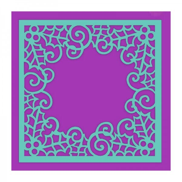 Sue Dix Designs - Swirling Holly Frame Stencil