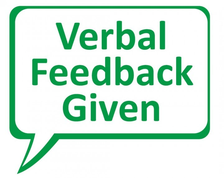 Trodat Printy 4933 - Verbal feedback given (speech bubble) - green