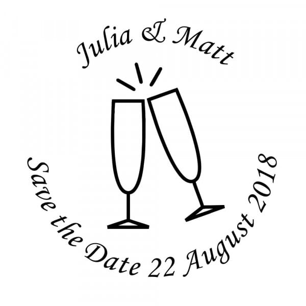 Customisable Save-the-Date Craft Stamp