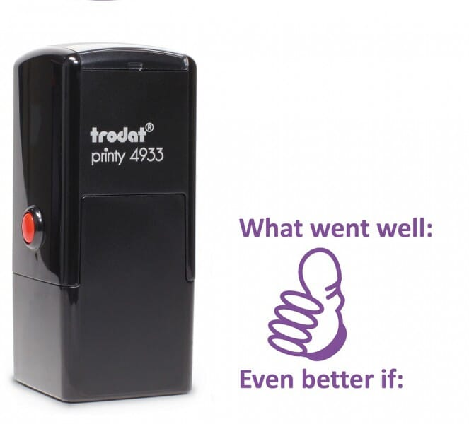 Trodat Printy 4933 - What went well - violet