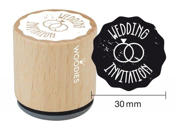 Woodies stamp Wedding invitation 2