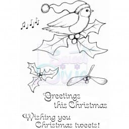 Lindsay Mason Designs - Christmas Tweets Clear Stamp A6