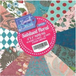 """Sweet Dixie Subdued Floral 6"""" x 6"""" Cardstock Pad"""