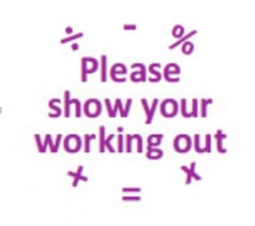 Teachers' Motivation Stamp - PLEASE SHOW YOUR WORKING OUT