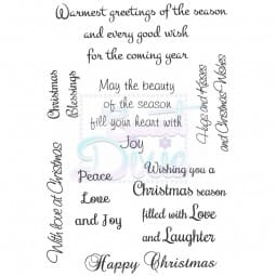Sue Dix Designs - Warmest Greetings of the Season Clear Stamp A6
