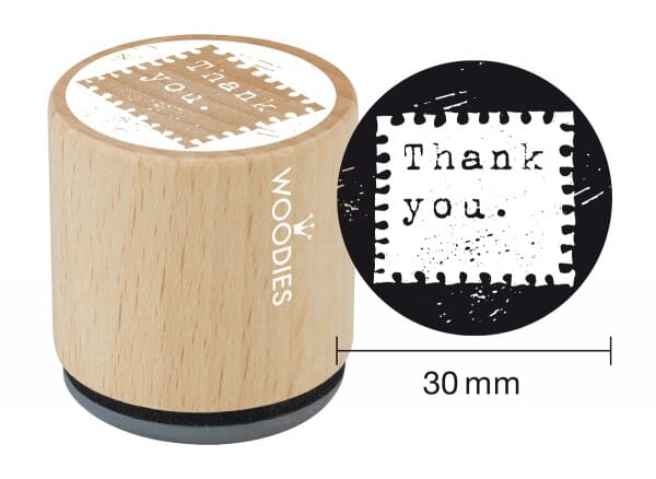 Woodies stamp Thank you