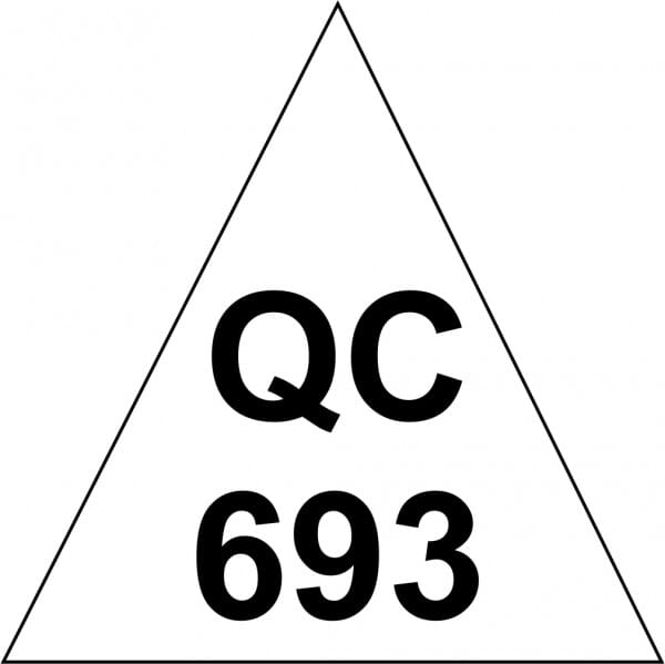 Customised Quality Control Inspection Stamp - Number Triangle