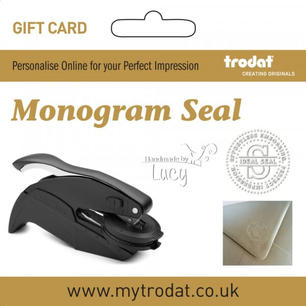 Trodat Customised Monogram Embossing Seal Press Gift Card