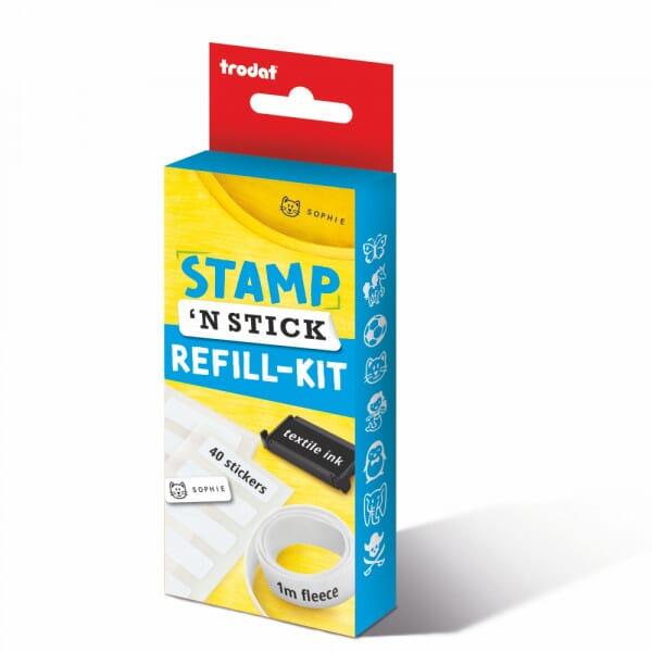 Stamp 'N Stick Uniform & Belongings Stamper/Sticker Refill Kit