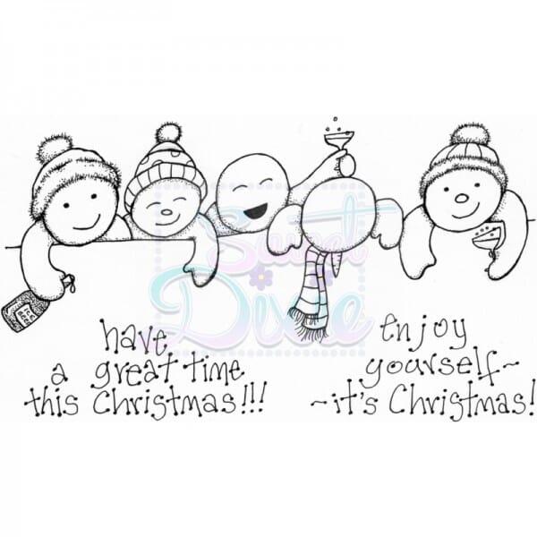 Lindsay Mason Designs - Tipsy Snowmen Clear Stamp A6