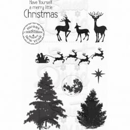 Kath Halstead Designs - Christmas Winter Scene Clear Stamp A6