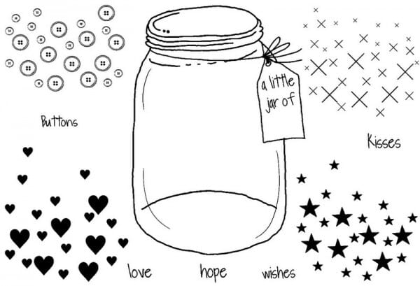 Sweet Dixie - Little jar of - Clear Stamp