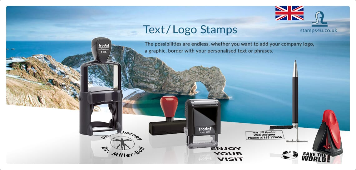 text stamps