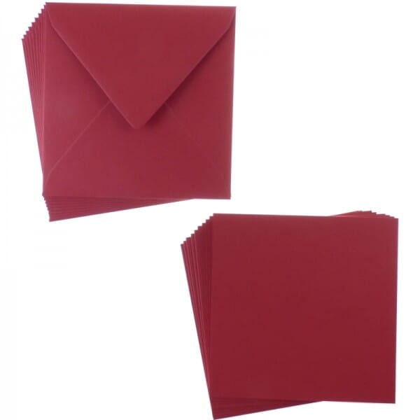 Sweet Dixie Christmas Red Square Card and Envelope Packs (10)