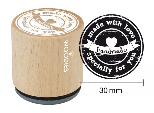 Woodies stamp Made with love specially for you