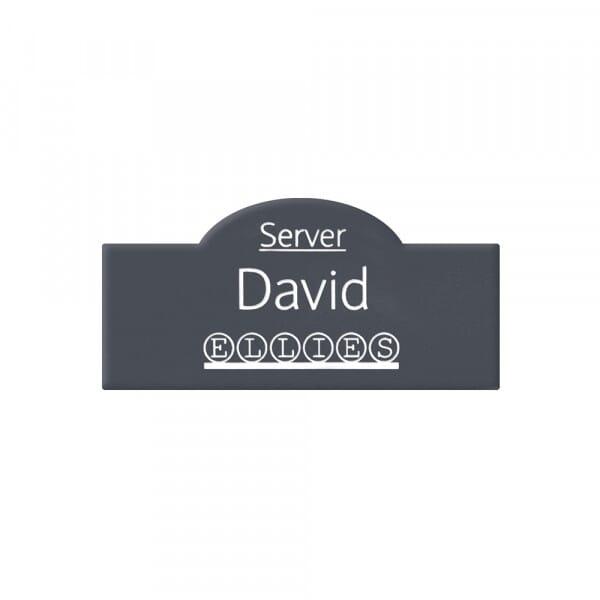 Engraved Name Badge - Half Oval