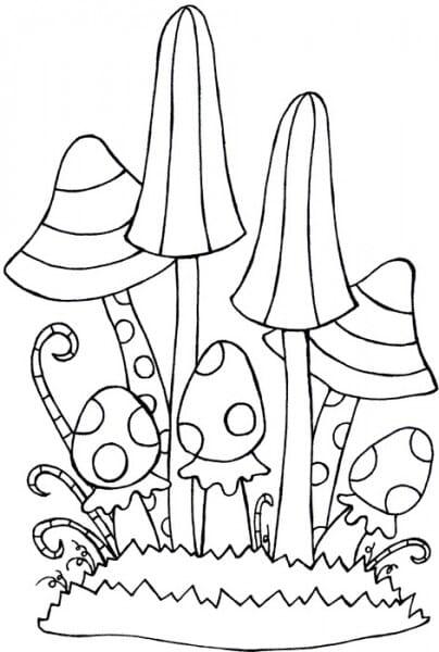 Lindsay Mason Designs - Zendoodles Fungi Clear Stamp