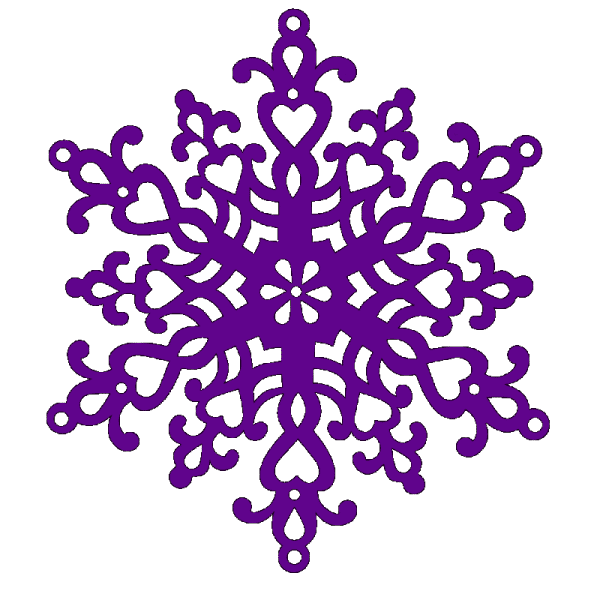 Sweet Dixie Christmas Large Snowflake designed by Sue Dix