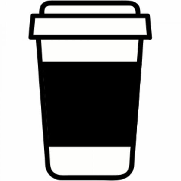 Coffee Cup Loyalty Card Stamp - 11x11mm