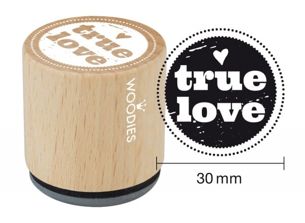 Woodies stamp True love